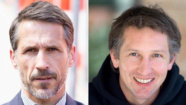 Thomas Eichin (li.) und Frank Baumann (Bild: APA/AFP/dpa/MAJA HITIJ)