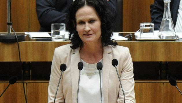 Grünen-Chefin Eva Glawischnig (Bild: APA/HERBERT PFARRHOFER)