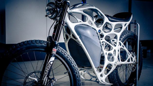 Erstes E-Motorrad aus dem 3D-Drucker vorgestellt (Bild: APWorks)