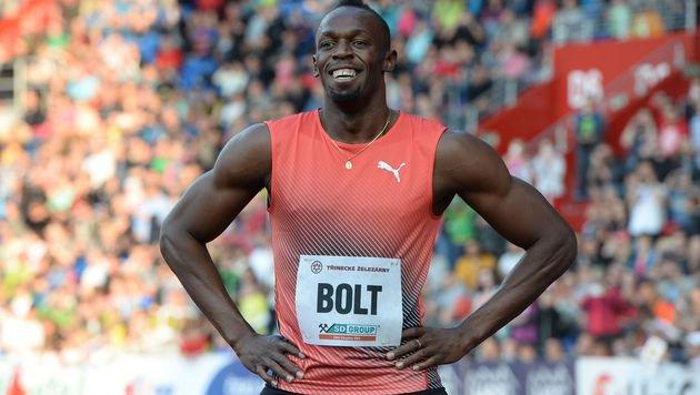 Bolt gewinnt erstes Europa-Rennen in 9,98 Sekunden (Bild: APA/AFP/MICHAL CIZEK)