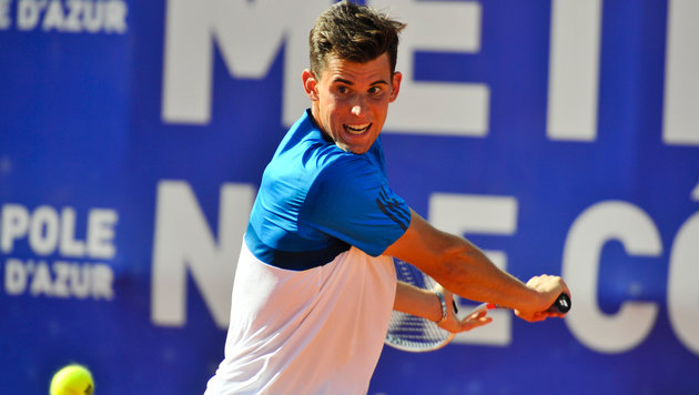 Ganz stark! Dominic Thiem im Finale von Nizza (Bild: GEPA)
