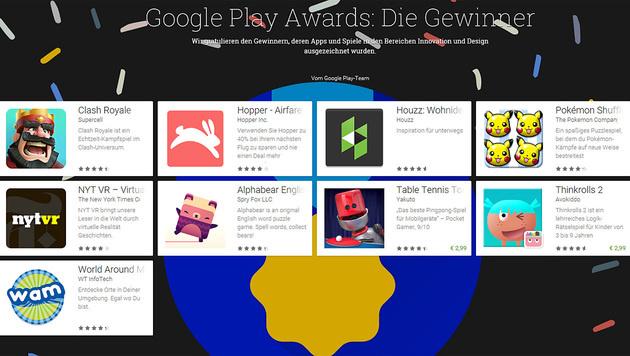 Google Play Awards: Die besten Android-Apps (Bild: Google)