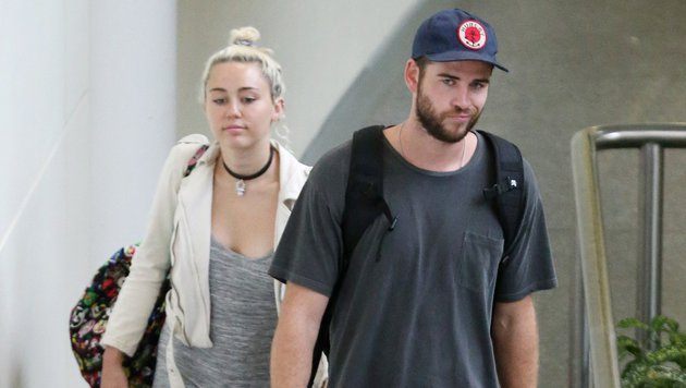 Liam Hemsworth and Miley Cyrus Anfang Mai 2016 (Bild: Viennareport)