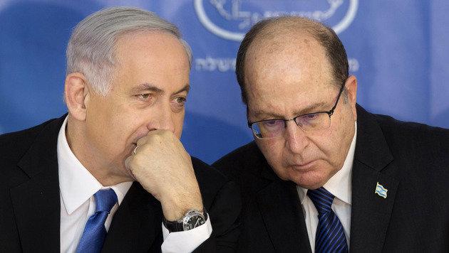 Netanyahu und Yaalon werden wohl keine Freunde mehr. (Bild: ASSOCIATED PRESS)