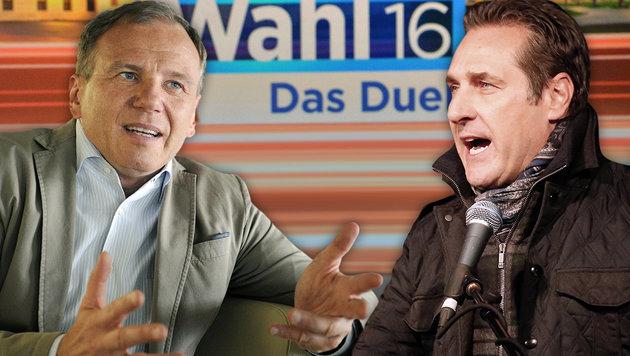 """""""Perfide und widerliche Wahlmanipulation im ORF"""" (Bild: ORF/Thomas Ramstorfer, APA/ROLAND SCHLAGER, Martin A. Jöchl)"""