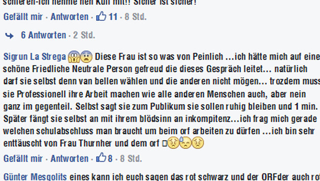 Shitstorm entlädt sich auf Ingrid Thurnher (Bild: Screenshot/Facebook.com/Norbert Hofer)
