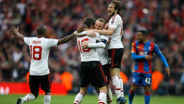 Cup-Sieger! Traum-Volley rettet Manchester United (Bild: AP)