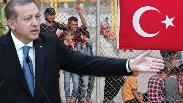 """Erdogan: """"Zugesagte EU-Gelder noch nicht bezahlt"""" (Bild: ASSOCIATED PRESS, APA/AFP/ADEM ALTAN)"""
