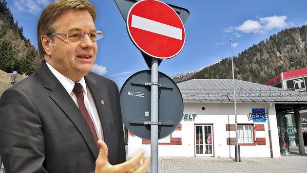 """""""Flüchtlingsgruppen nach Norden unterwegs"""" (Bild: Christof Birbaumer)"""