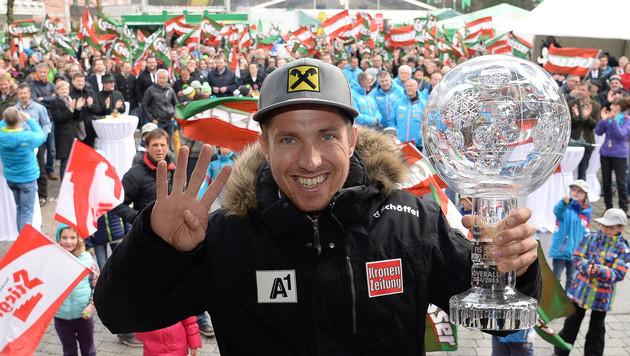 """Kein Fan-Fest f�r Hirscher - Gemeinde """"stinksauer"""" (Bild: APA/BARBARA GINDL)"""