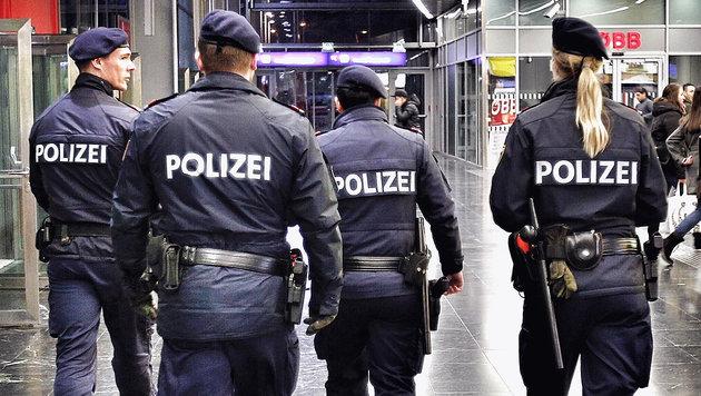 Polizei-Patrouille an einem der Wiener U-Bahn- und Bahnhofs-Hotspots (Bild: Reinhard Holl)