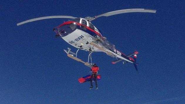 Die Alpinisten wurden vom Rettungshubschrauber aufgenommen. (Bild: LPD SALZBURG)