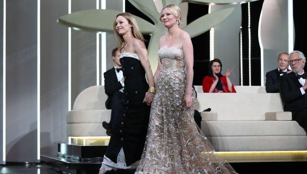 Kirsten Dunst (r.) und Vanessa Paradis (l.) (Bild: AFP)