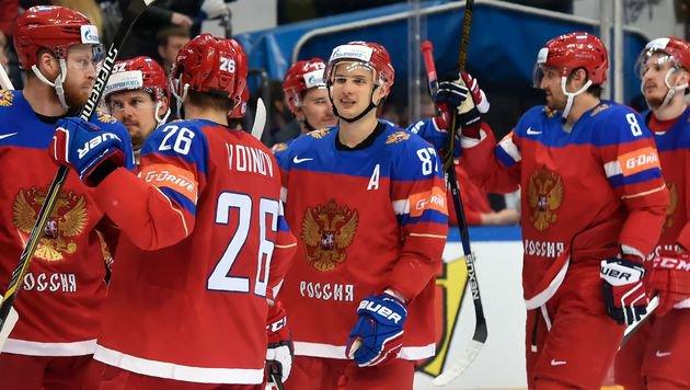 7:2 gegen die USA! Russland holt souver�n Bronze (Bild: APA/AFP/ALEXANDER NEMENOV)