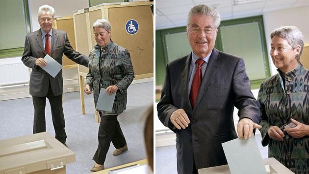 Fotos von Politikern beim Wählen (im Bild Ex-Präsident Heinz Fischer): Künftig offiziell erlaubt? (Bild: APA/BUNDESHEER/PETER LECHNER)