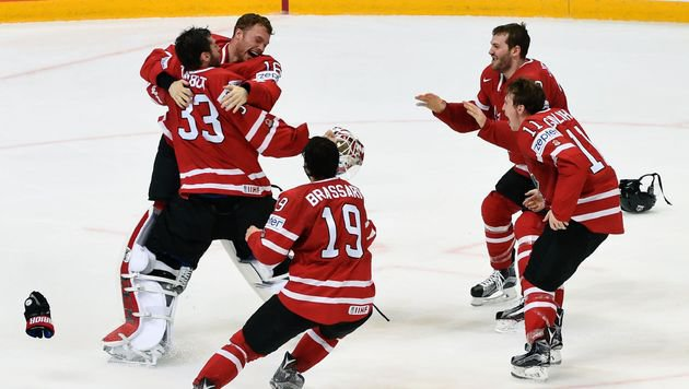 Gold! Kanada gelingt in Moskau Titelverteidigung (Bild: APA/AFP/YURI KADOBNOV)