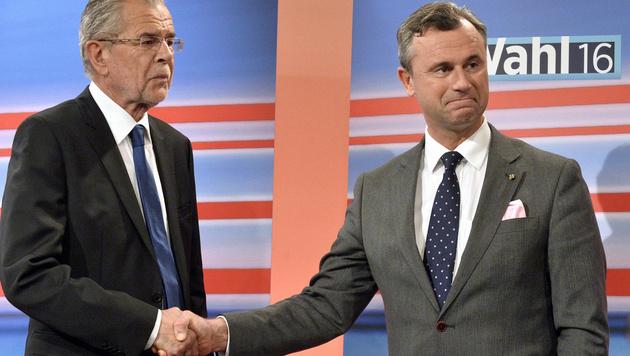 Alexander Van der Bellen und Norbert Hofer (Bild: APA/Harald Schneider)
