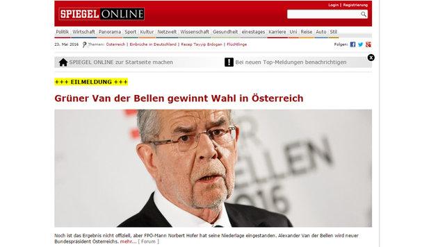 Präsident Van der Bellen: So reagiert das Ausland (Bild: spiegel.de)