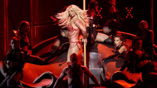 Britney Spears legte in Las Vegas eine heiße Show auf die Bühne. (Bild: Chris Pizzello/Invision/AP)