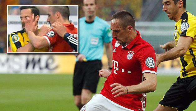 Augenstecher von Ribery erhitzt die BVB-Gemüter! (Bild: APA/AFP/ODD ANDERSEN, twitter.com)
