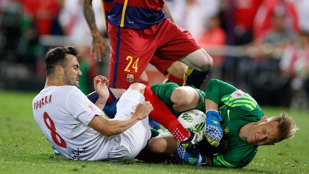 Barca macht Double dank heroischem Fight perfekt (Bild: AP)