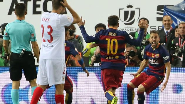 Barca macht Double dank heroischem Fight perfekt (Bild: APA/AFP/CESAR MANSO)