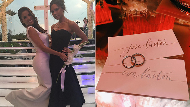 Eva Longoria hat erneut geheiratet. (Bild: instagram.com/victoriabeckham, instagram.com/evalongoria)