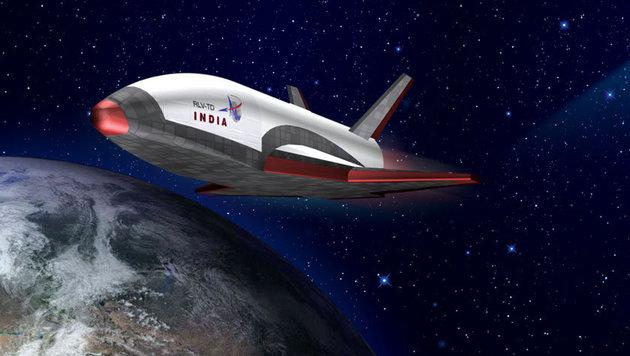 """Illustration: So soll Indiens """"Spaceshuttle"""" einmal aussehen. (Bild: ISRO)"""