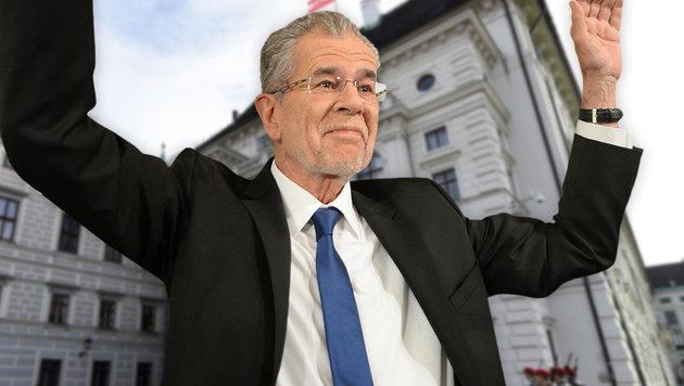 Jetzt fix: Van der Bellen ist Bundespräsident! (Bild: APA/HELMUT FOHRINGER, APA/ROLAND SCHLAGER)