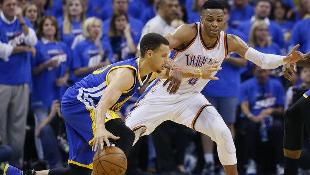 NBA-Dominator Golden State in Oklahoma vorgeführt (Bild: AP)