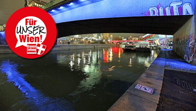 "Schwerpunktkontrollen im ""Angstraum"" Donaukanal (Bild: Reinhard Holl)"