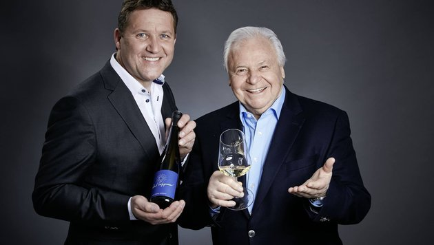 Eckart Witzigmann und Winzer Franz Türk haben gemeinsam einen Wein gemacht. (Bild: Weingut Türk)