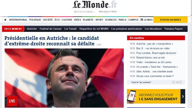 Präsident Van der Bellen: So reagiert das Ausland (Bild: lemonde.fr)