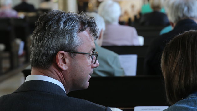 Norbert Hofer in der evangelischen Kirche von Pinkafeld (Bild: Peter Tomschi)