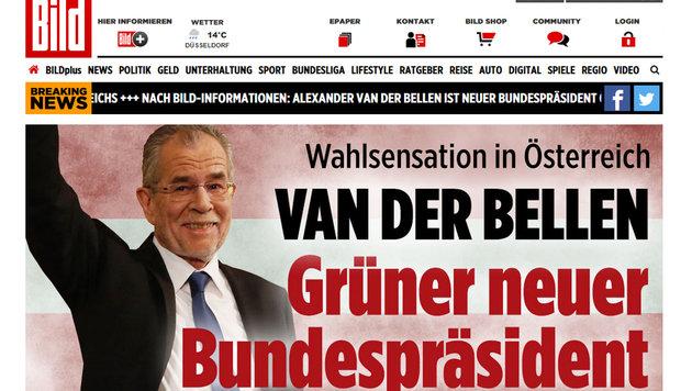 Präsident Van der Bellen: So reagiert das Ausland (Bild: bild.de)