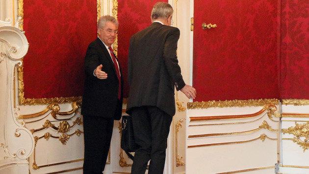 Erstes Treffen des alten und des neuen Präsidenten (Bild: ASSOCIATED PRESS)