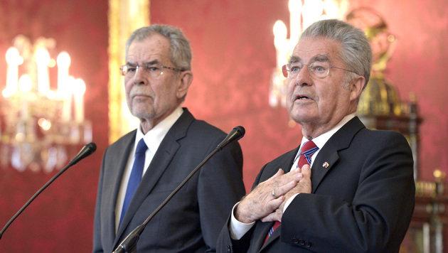 """Vorgänger und Nachfolger haben noch """"viel zu besprechen"""". (Bild: APA/HANS PUNZ)"""