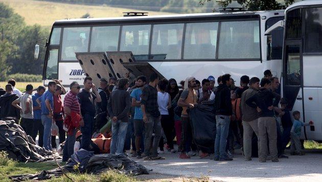 Chaos-Camp in Idomeni nun vollständig geräumt (Bild: APA/AFP/Sakis Mitrolidis)