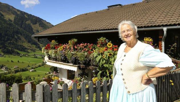 Unterwegs mit Frieda: Sie liebte die Bergwelt und die Blumen. (Bild: Gerhard Schiel)