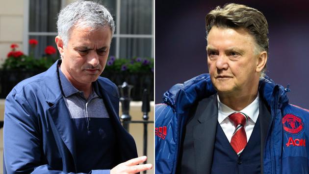 Jose Mourinho (links) und Louis van Gaal (Bild: ASSOCIATED PRESS)