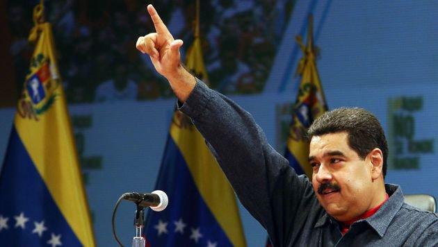 Nicolas Maduro will seinen sozialistischen Weg weitergehen. (Bild: APA/AFP/PRESIDENCIA VENEZUELA/FELICIANO_SEQUERA)