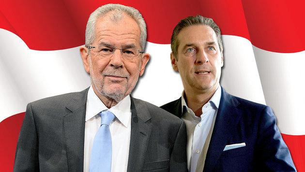 """""""Kein Kanzler Strache - FPÖ spielt mit dem Feuer"""" (Bild: thinkstockphotos.de, APA/ROLAND SCHLAGER, APA/GEORG HOCHMUTH)"""