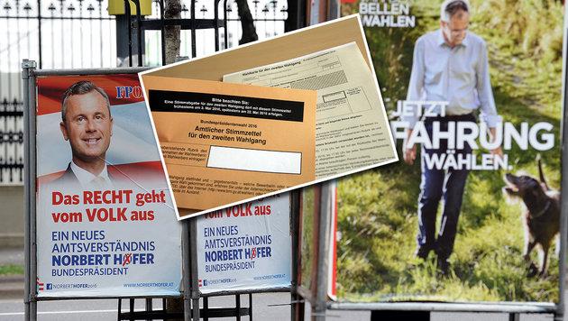 Wahlkarten: Ministerium bringt Anzeigen ein (Bild: APA/ROLAND SCHLAGER, APA/GEORG HOCHMUTH)