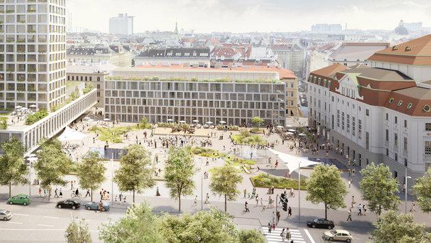348 Wiener Grüne stoppen Mega-Projekt am Heumarkt (Bild: Kronen Zeitung)