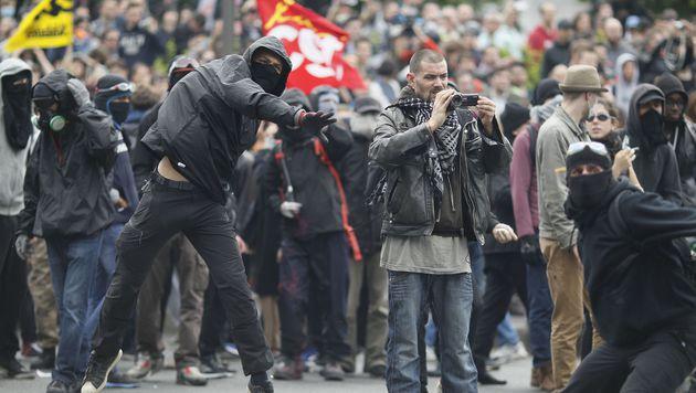 Ausschreitungen in Paris (Bild: APA/AFP/Matthieu Alexandre)