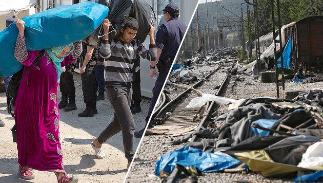 Flüchtlingslager in Idomeni (Bild: EPA, AP (Archivbild))