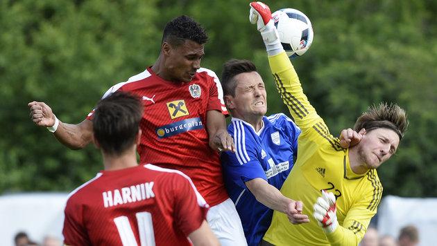ÖFB-Elf netzt 14 Mal gegen Schweizer Amateure ein! (Bild: APA/ROBERT JAEGER)
