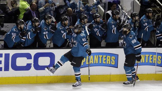 San Jose Sharks erstmals im Stanley-Cup-Finale (Bild: AP)