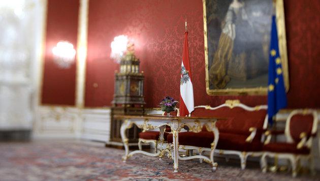Präsidentschaftskanzlei: Die Amtsräume des Präsidenten im Leopoldinischen Trakt der Wiener Hofburg (Bild: APA/HANS KLAUS TECHT)