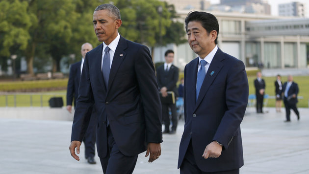 Barack Obama und Ministerpräsident Shinzo Abe (Bild: ASSOCIATED PRESS)